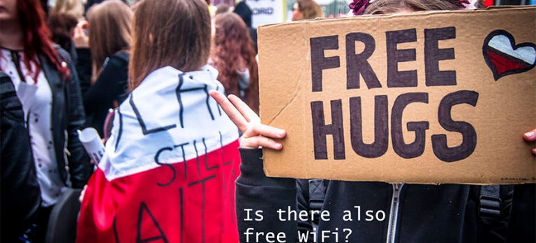 Free Hugs and Free WiFi