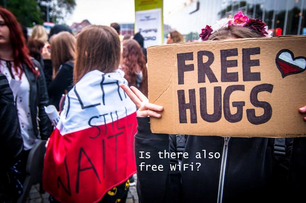 Free Hugs and Free WiFi