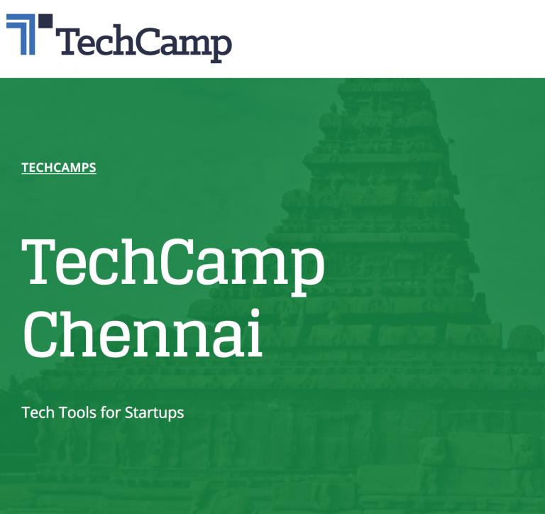 TechCamp Chennai Banner
