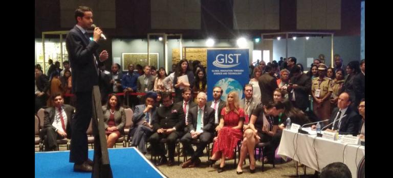 Qlicket and Vivek Kumar at Global Entrepreneurship Summit with Ivanka Trump