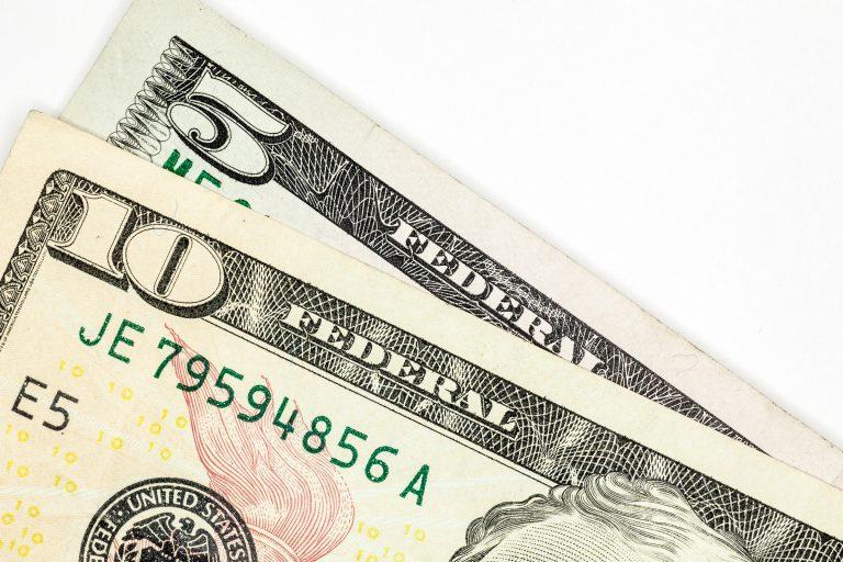 U.S. $5 and $10 Bill