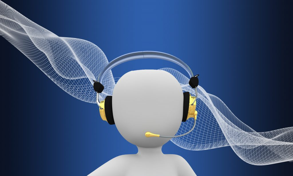 Call Centre Cartoon Character with Headphones