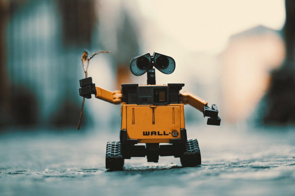Wall-E Robot Holding Flower